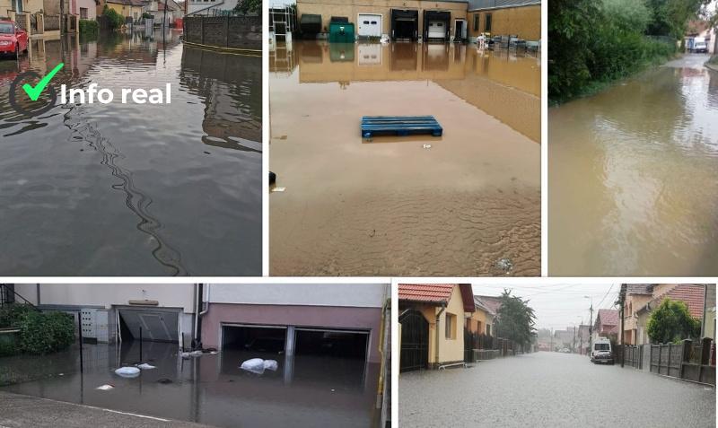 Ploile au provocat pagube la nivel national